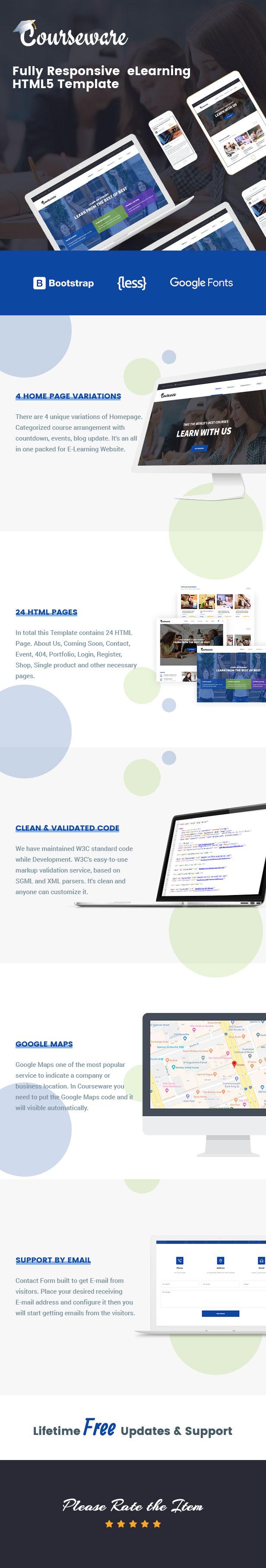 Plantilla HTML para cursos