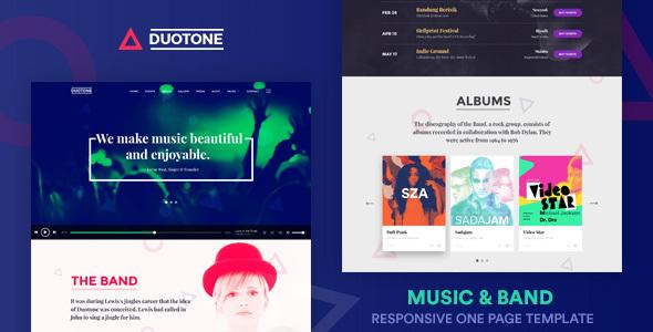 plantillas web para bandas de música