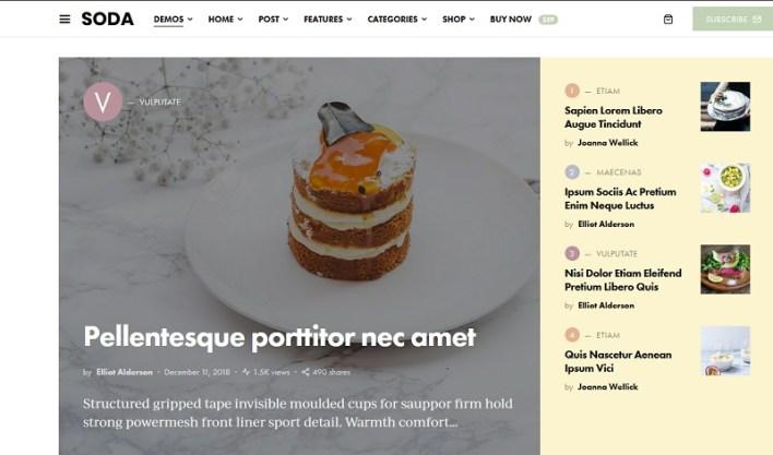 plantillas wordpress para magazines de cocina