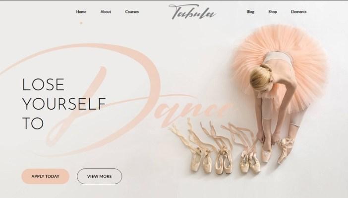plantillas wordpress para academias de balet