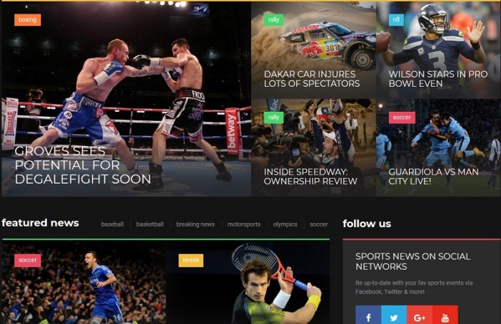 temas wordpress revistas deportivas
