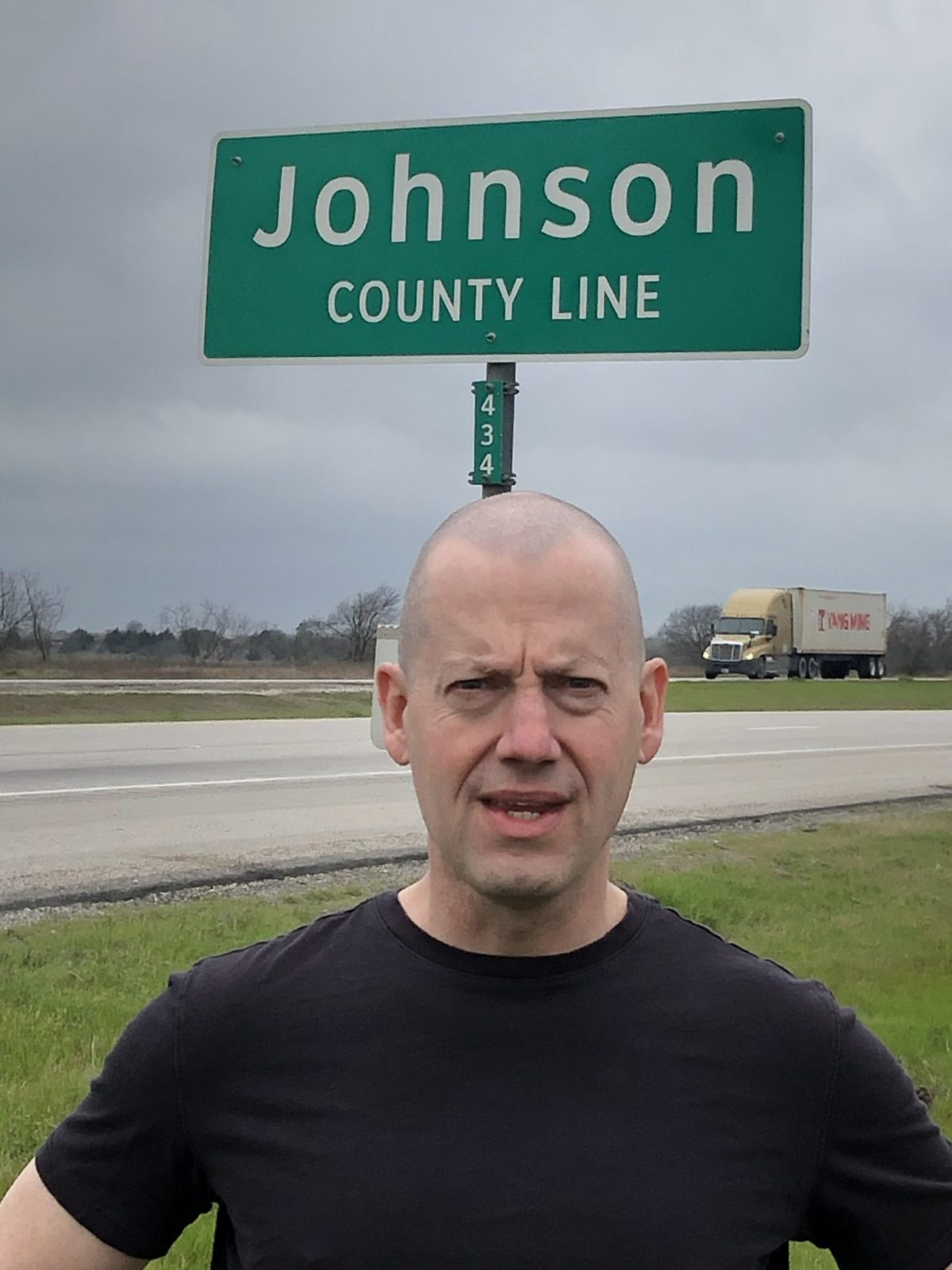 Jason Hull of We Buy Johnson County, Texas Homes at the Johnson County line