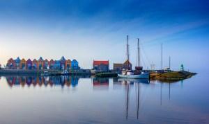Webwerkt foto landschap in Friesland