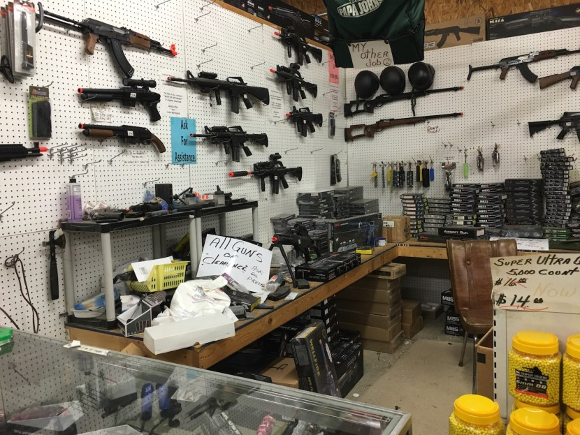 Gun shop at a local antiques mall