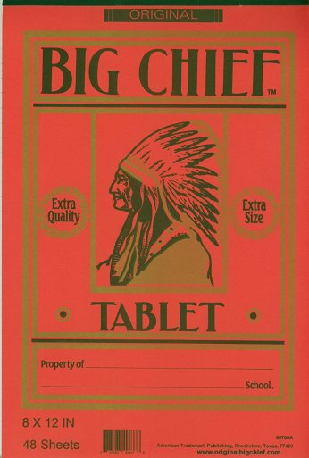 Red Big Chief notebook
