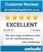 Reviews of airconditioningalberton.co.za