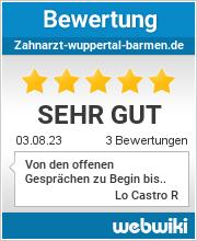 Bewertungen zu zahnarzt-wuppertal-barmen.de