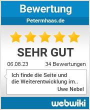 Bewertungen zu petermhaas.de