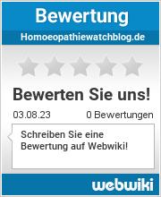 Bewertungen zu homoeopathiewatchblog.de