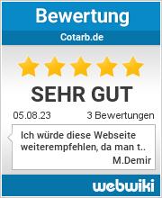 Bewertungen zu cotarb.de