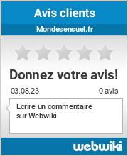 Avis clients de mondesensuel.fr