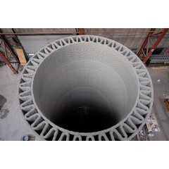 Record-tall Wind Turbine Towers with 3D-printed Concrete Bases