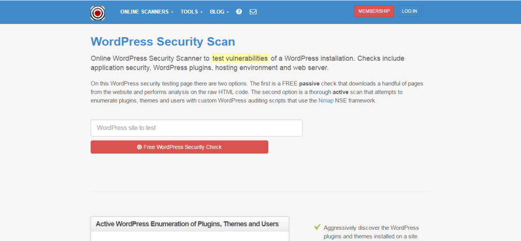 WordPress安全掃描 WordPress Security Scan