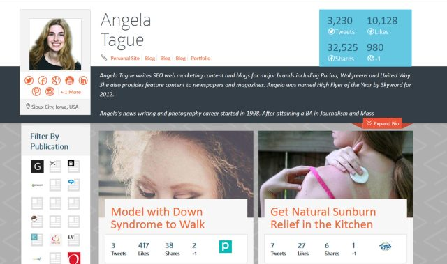 Angela Tague's writing portfolio