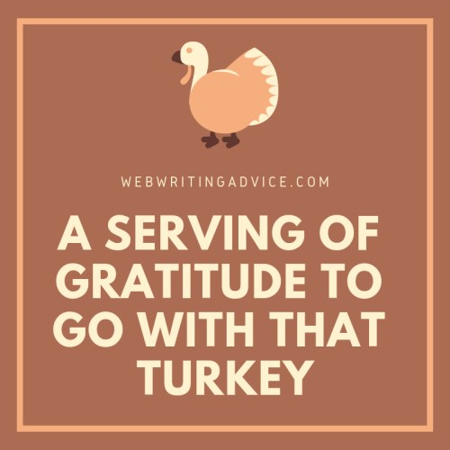 A Serving of Gratitude to Go With That Turkey