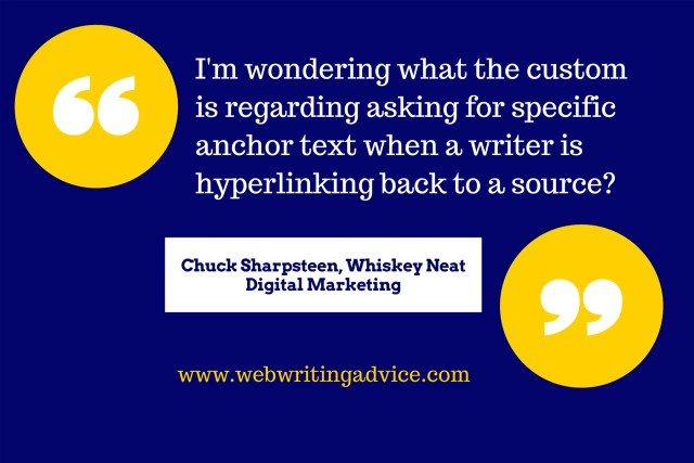 Q&A: Anchor Text Linking Requests