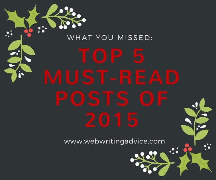 What You Missed: Top 5 Must-Read Posts of 2015