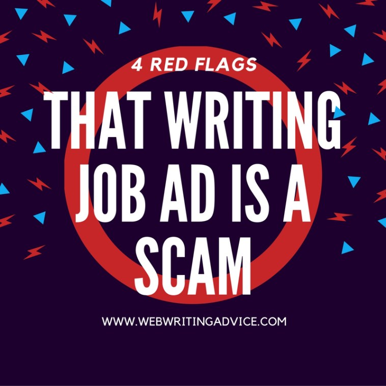 4 Red Flags that Writing Job Ad is a Scam