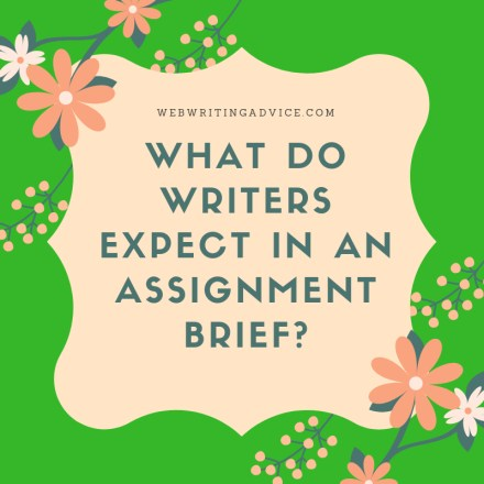What do Writers Expect in an Assignment Brief?