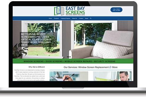window door website design