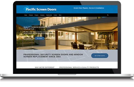 Window Screen Door Website Design