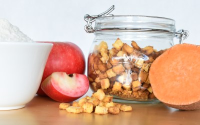 Sweet Potato & Apple Mini Crunchies