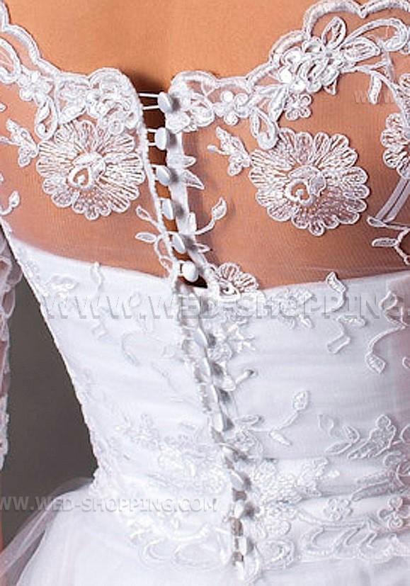 Off Shoulder Lace Wedding Bolero Jacket Back Fastening Buttons