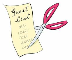 Sorting the wedding guest list