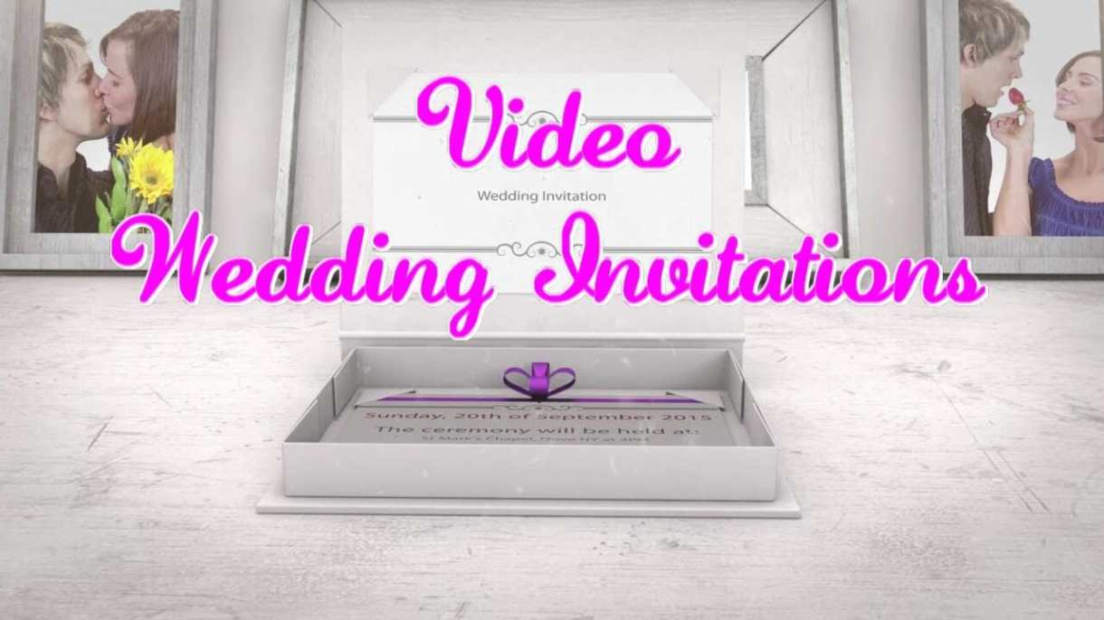 video wedding invitations