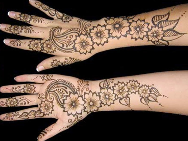 10 Simple Henna Mehendi Design Ideas For Beginners