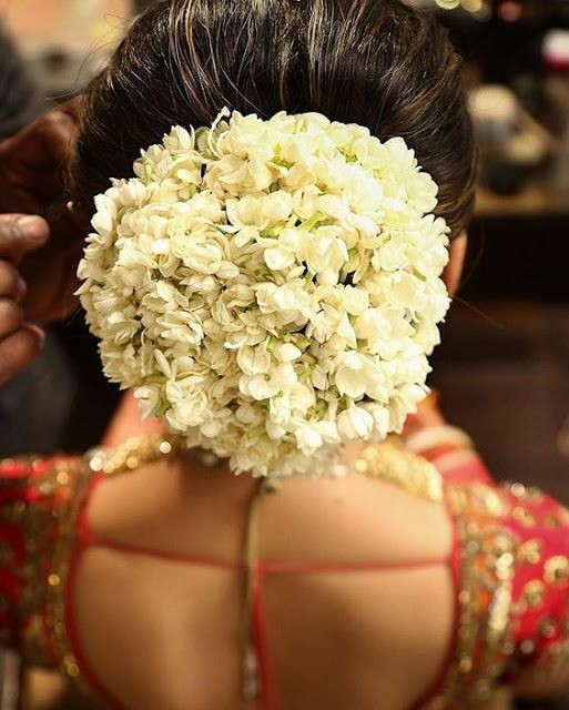 Bun covered with flowers