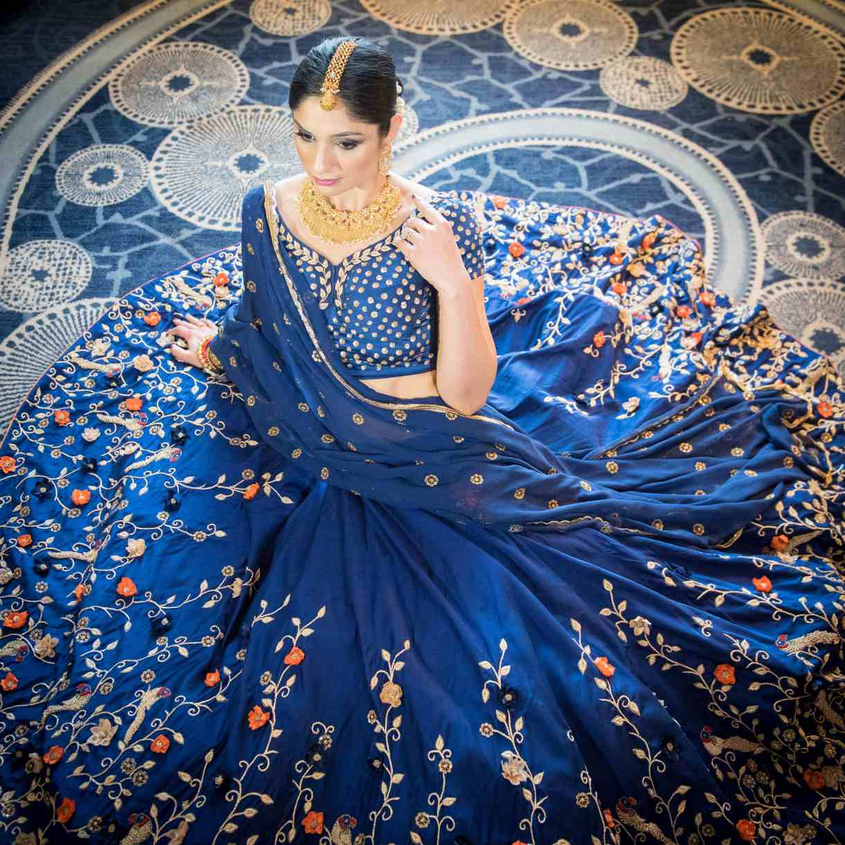 unique color lehenga