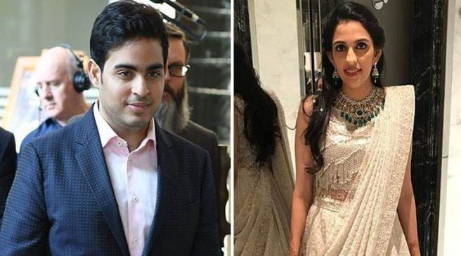 Akash Ambani and Sloka Mehta