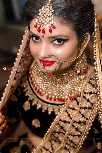 Bihari bridal look