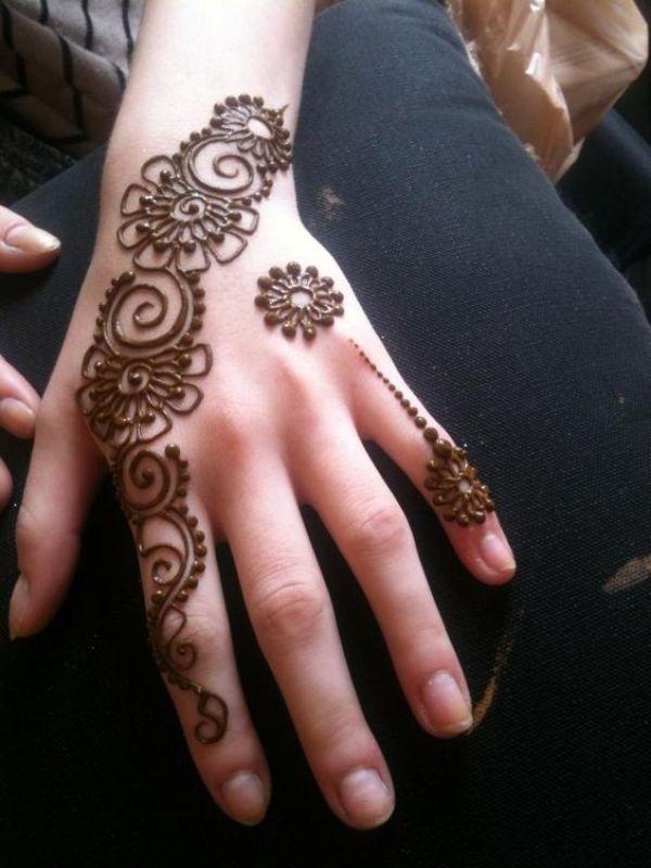 20.Simple dots back henna design0