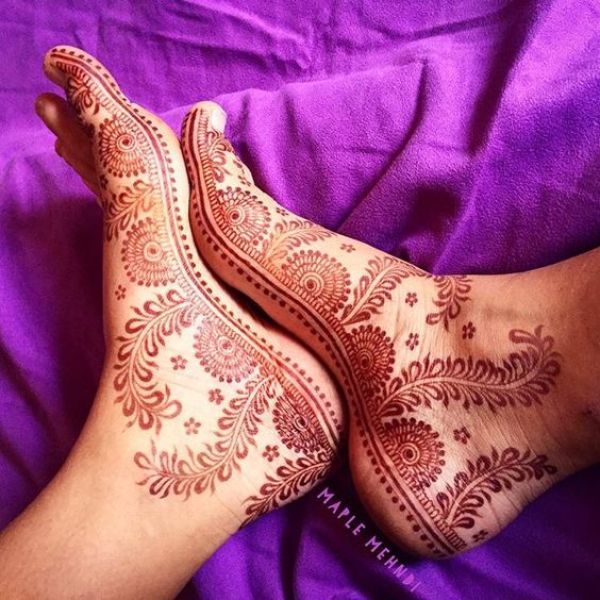 2.Creepers and dots Feet henna