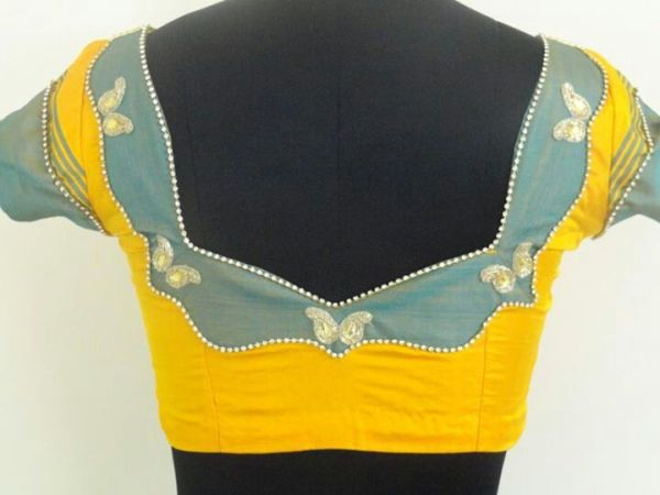 13.Yellow with Grey patch work