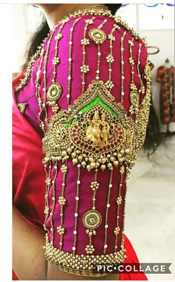 29.Radha krishna bridal blouse