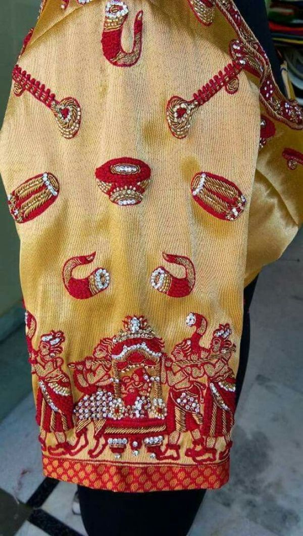 4.Musical instrument blouse #design 4