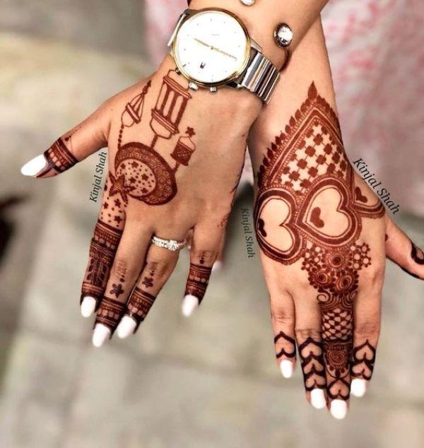 23.Heart arabic mehndi designs
