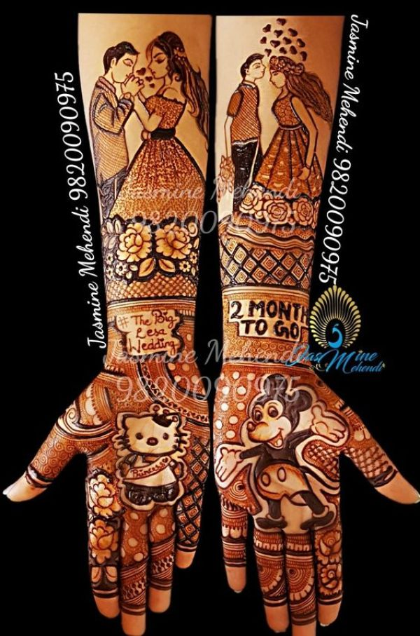 6.Dashing couple mehndi design