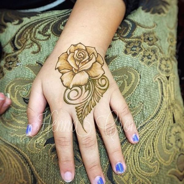 17.Rose Mehndi design #17