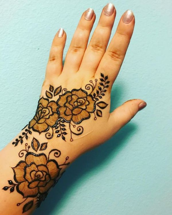 21.Rose Mehndi design #21