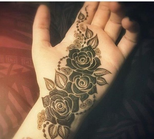 27.Rose Mehndi design #27