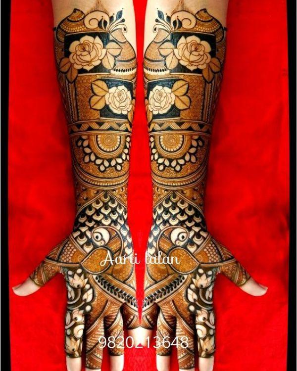 9.Rose Mehndi design #9