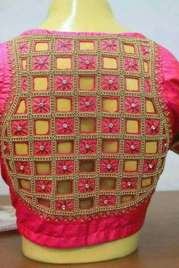 30.Check blouse design #30