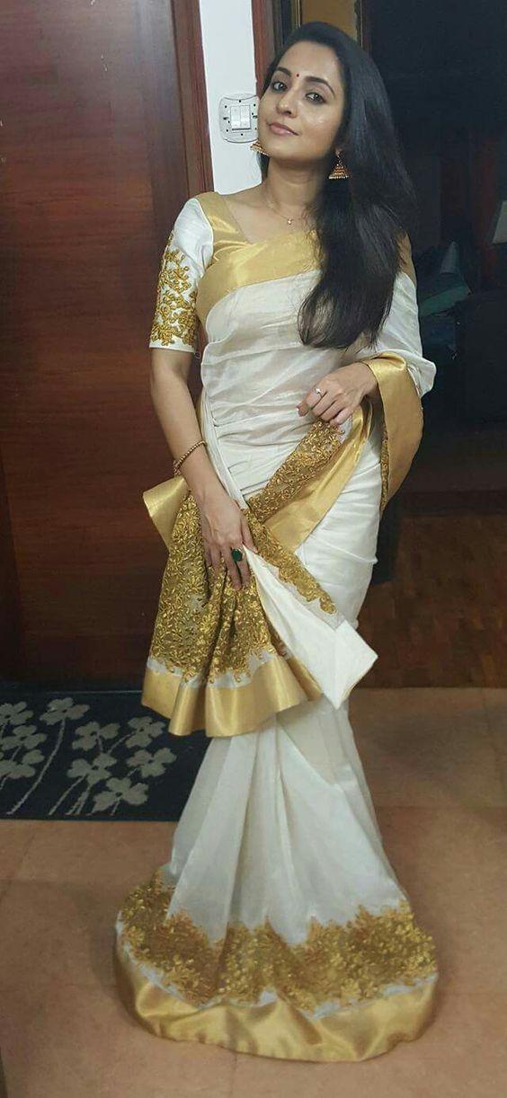 Kerala Designer Saree Photo Gallery Wedandbeyond Com