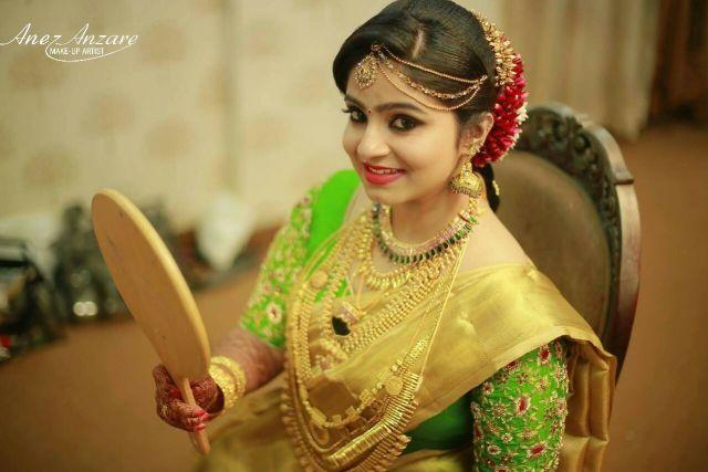 bridal makeup for kerala bride | photo gallery