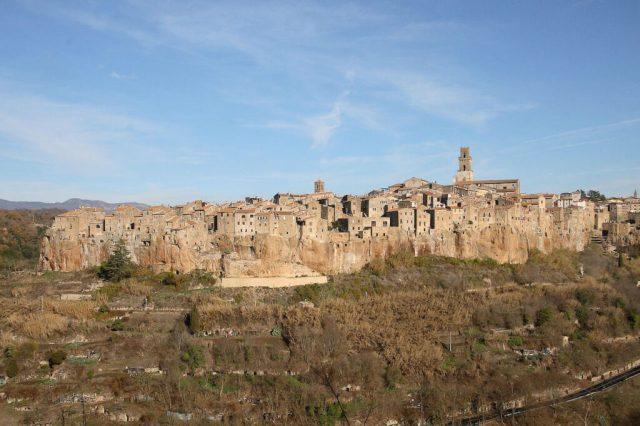 Ville perchée de Pitigliano en Toscane