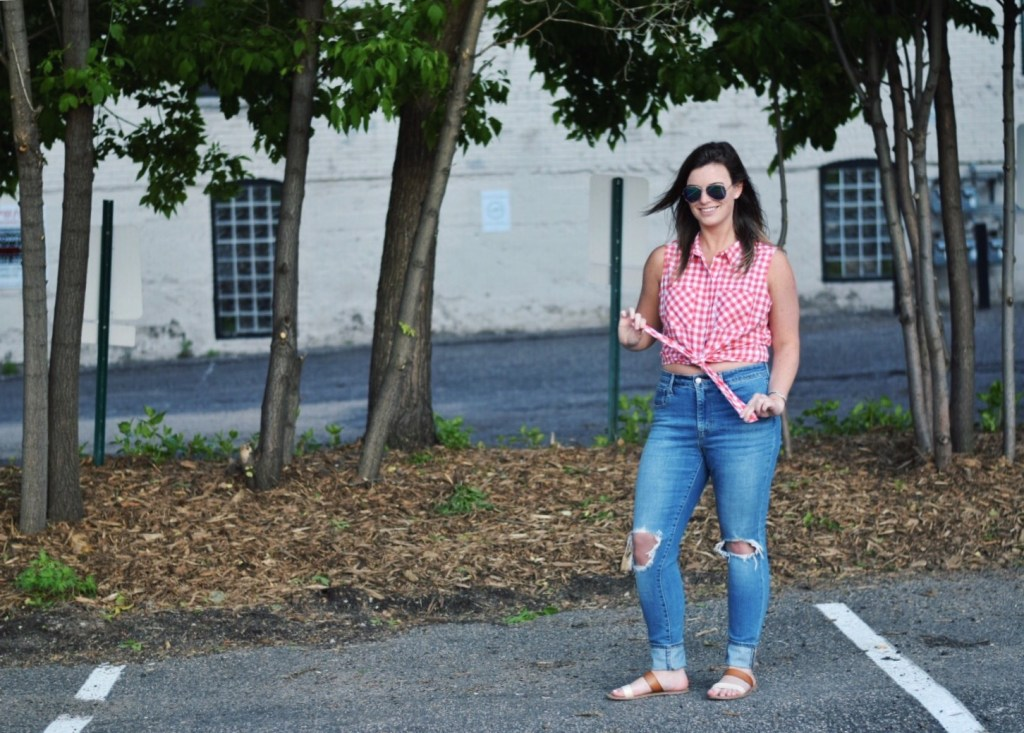 gingham for memorial day weekend
